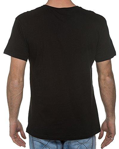 BLZ jeans - Schwarzes T-Shirt Kurzarm mit Druck Schwarz