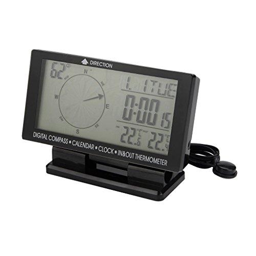 "KESOTO 4,6\"" LCD Anzeige Auto-Digital Kompass Uhr Thermometer Kalender Mit Kfz-Ladegerät"