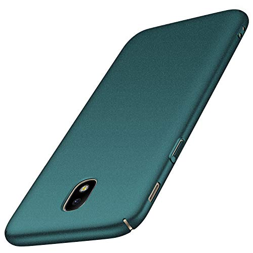Avalri Cover Galaxy J7 2017, Minimalista Design Ultra Sottile Case Rigida in PC Antiurto Anti-Graffio Custodia per Samsung Galaxy J7 2017 (Galaxy J7 2017, Ghiaia Verde)