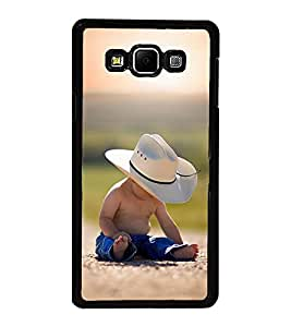 Fuson Premium 2D Back Case Cover Baby boy With white Background Degined For Samsung Galaxy A8::Samsung Galaxy A8 A800F
