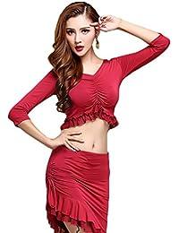YiJee Mujer Belly Dance Disfraz Oriental Danza del Vientre Tops and Falda