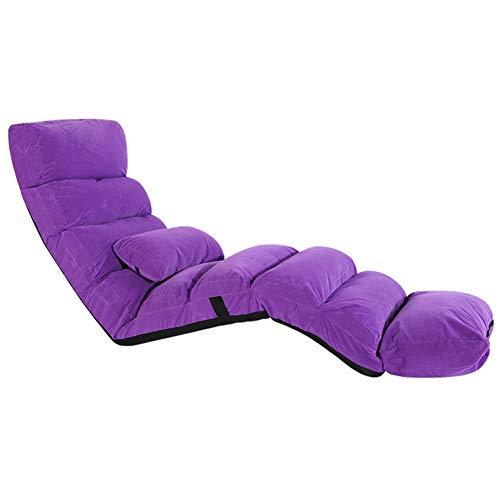 JIE KE Boden-Stuhl-justierbarer Faltbarer Spielstuhl mit rückseitiger Unterstützung, groß für...