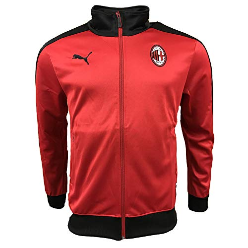 2018-2019 AC Milan Puma T7 Track Jacket (Red)