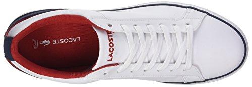 Lacoste Lerond 317 1, Baskets Basses Homme Blanc (Wht/Nvy)