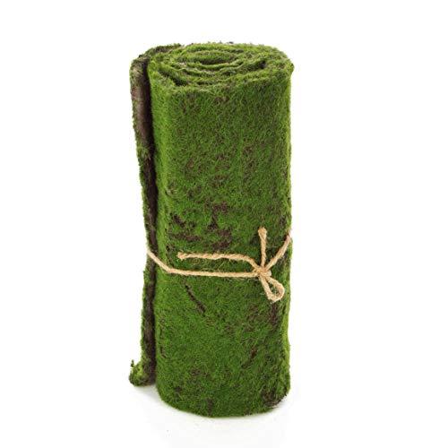 artplants.de Rouleau - Tapis de Mousse Artificielle, Vert-Marron, 97 x 29cm - Tapis décoratif - Herbe Artificielle