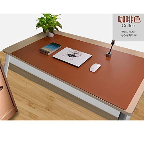 DM&FC Pu Leder Mouse Pad Mat Wasserdicht, Verlängert Office Desk Pad Computer-Tastatur-Mousepad Mit Komfortablen Schreibfläche-braun W70xh35cm(28x14inch) (Tastatur-handgelenkauflage 14 Zoll)