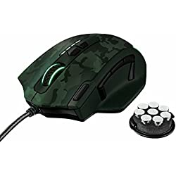 Trust Gaming GXT 155C - Ratón para gaming (PC), color verde camuflaje