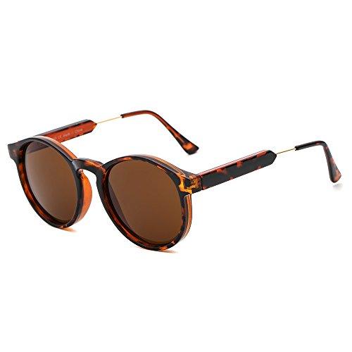 Suertree Damen Sonnenbrillen UV400 Kleine Sonnenbrille Runde Unisex Shades Frauen Brille for Männer Herren JH9005
