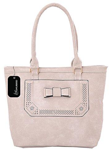 Kukubird Edith Tote Bag borsa Casual tutti i giorni con sacchetto raccoglipolvere Kukubird Light Grey