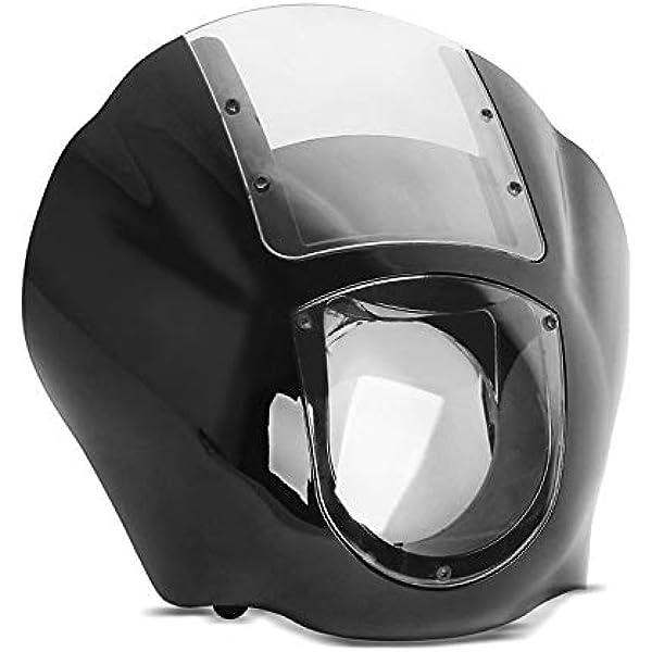 Lampenmaske Mg8 Kompatibel Für Harley Softail Street Bob 18 20 Lampen Verkleidung Clear Auto