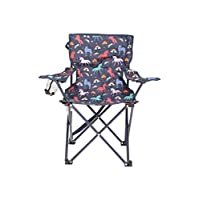 Mountain Warehouse Patterned Mini Children Folding Chair - Arms & Shoulder Strap Kids Camping Chairs, Light Picnic Chair, Durable Stool - For Picnics, Beach, Garden
