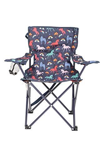 Mountain Warehouse Gemusterter Mini-Klappstuhl für Kinder - Campingstühle für Kinder, Leichter Picknickstuhl, strapazierfähiger Hocker - Für Picknicks, Strand, Garten Marineblau
