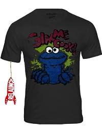 RELAUNCH Krümelmonster Cookie Monster Sesamstraße Herren T-Shirt GIMMI  COOKIE - ANTHRAZIT Gr. S b9c9cd2486