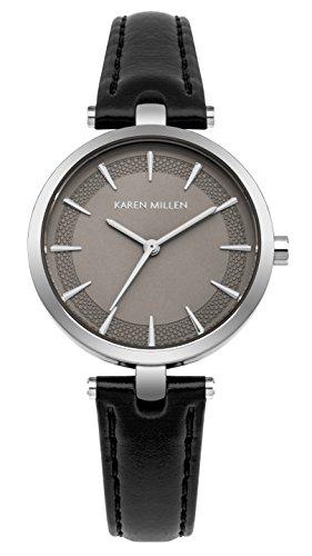 Karen Millen Womens Analogue Classic Quartz Watch with Leather Strap KM153B
