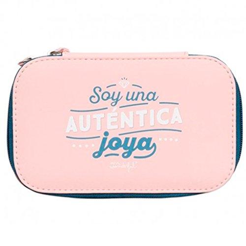 Mr. Wonderful Soy Una Auténtica Joya Neceseres de viaje, 18 cm, litros, Rosa