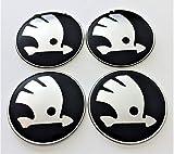 4 Rad mitte kappen aufkleber 65 mm SkodaEmbleme gewölbt logo selbstklebendes nabendeckel felgenkappen