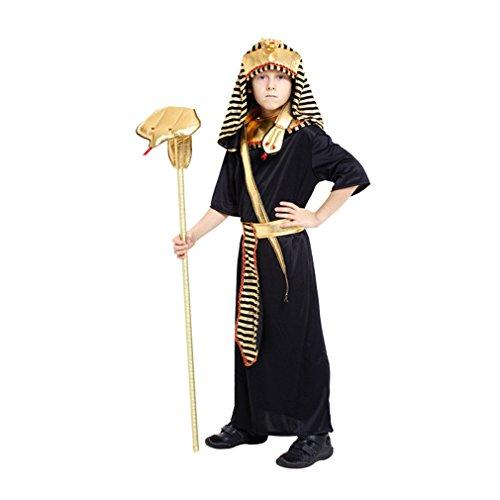 JT-Amigo Disfraz de Faraón Egipcio para Niño, 4-5 años