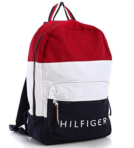 41dpBpSRr6L - Tommy Hilfiger Rucksack, TH Signature Canvas Backpack, 40cm x 28cm x 13cm