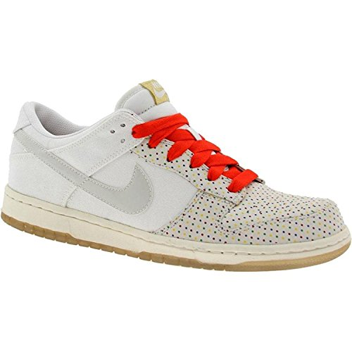 [318639-111] NIKE DUNK LOW PREMIUM WOMENS SHOES WHITE/WHITE-CHL RED