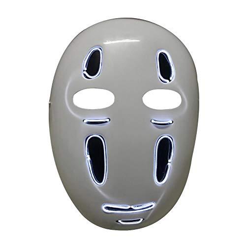 Halloween Masken Leuchtende Maske LED Glühende Horror Menschliches -