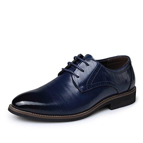 abiti da cerimonia per uomo Inghilterra/ scarpa che respira a punta pizzo/ gioventù scarpe per affari-D Lunghezza piede=26.8CM(10.6Inch)