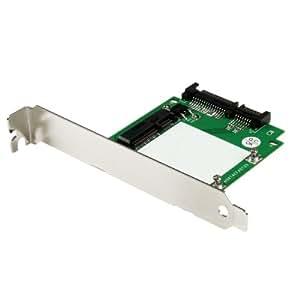 """StarTech.com Adaptateur SATA vers SSD mSATA avec Équerres de Plein et Demi-Hauteur - Carte Convertisseur SATA à Mini SATA 2,5"""""""