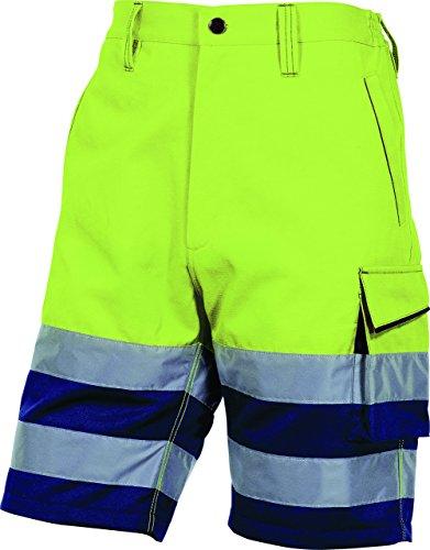 Delta Plus Panoply PHBER alta visibilità Hi Vis alta visibilità Berumda Pantaloncini Cargo da lavoro, da uomo, con pantaloncini Fluorescent Yellow