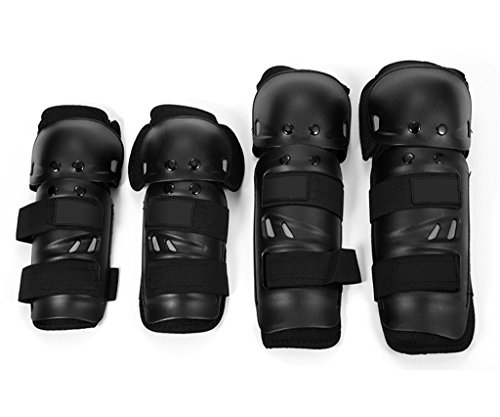 Auto Pearl -Premium Quality Fox Motorcycle Riding Knee And Elbow Guard (Black, Set Of 4)  available at amazon for Rs.449