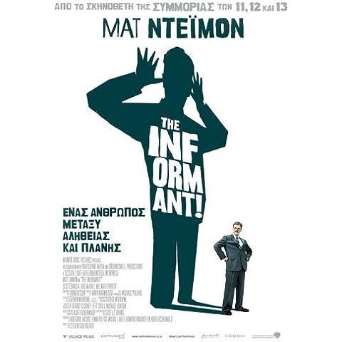 I Greco Informant Movie Poster!, 69 x 102 cm Matt Damon Melaine Lynskey Frank Welker Clancy Scott Bakula Patton Oswalt, colore: marrone