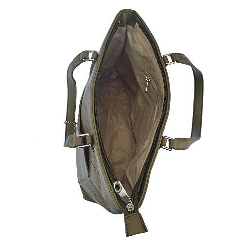 U.S.POLO ASSN. Handtasche, große Griffe 32-36x14x31 cm Grün
