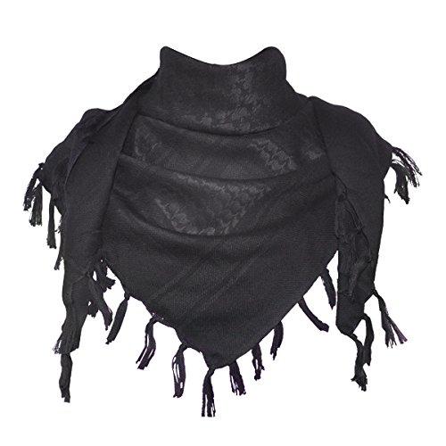 Explore Land 100% algodón Shemagh militares Desert Tactical Keffiyeh bufanda abrigo ( (negro)