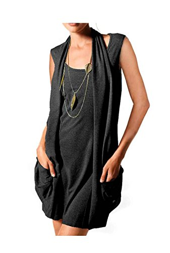 Heine Damen-Shirt Two-in-One-Longshirt-Minikleid Schwarz Größe 38