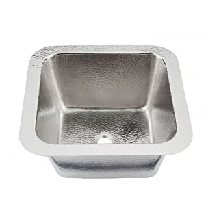 Thompson Traders 1S-BRN Hammered Nickel Picasso Bar/Prep Sink by Thompson Traders