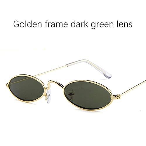 Loving Bird Liebevoller Vogel 2019 Ovale Sonnenbrille Frauen Retro Kleine Sonnenbrille Männer Rote Sonnenbrille für Weibliche Luxusmarke Designer Metallrahmen Brillen UV400, Farbe 7