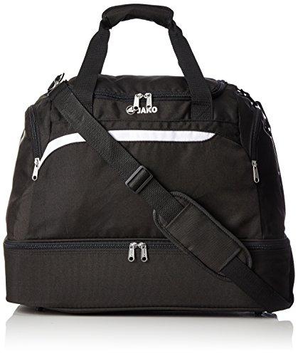 Jako Erwachsene Sporttasche Performance, Schwarz/Weiß/Grau, 50 x 30 x 38 cm, 3 Liter, 2097 (Bag-fußball-schuhe)
