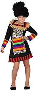 Atosa-guerrero Disfraz Zulú, color (schwarz/bunt), 10 a 12 años (23202)