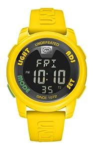 Marc Ecko E07503G7 - Reloj digital de cuarzo unisex con correa de silicona, color amarillo de Marc Ecko