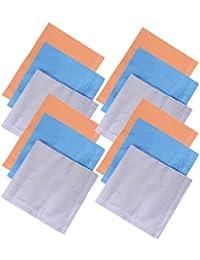 Devil Men's 100% Cotton Premium Collection Handkerchiefs - Pack of 12 (Multicolor_46X46 CM)