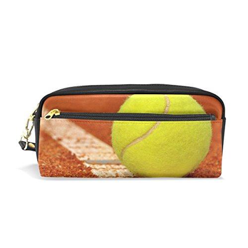 jstel Tennis Schule Bleistift Tasche für Kid Jungen Kinder Teens Stifthalter Kosmetik Make-up-Tasche Frauen Haltbare Stationery Pouch Bag großes Fassungsvermögen -