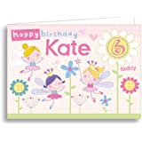 Children's Personalised Birthday Card Flower Fairy