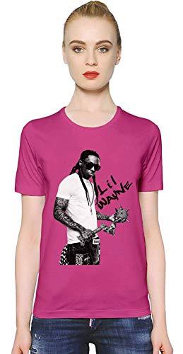 Lil Wayne Ich bin Musik I Am Music Women T-Shirt Girl Ladies Stylish Fashion Fit Custom Apparel by Medium - Lil Rosa Wayne Shirt