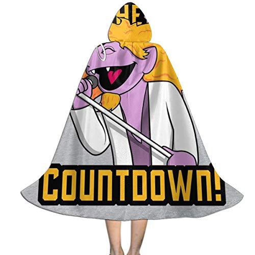 Sesame Kostüm Count Street - NUJIFGYTCRD The Final Countdown The Count SES-AME Street Europe Unisex Kinder Kapuzenumhang Umhang Umhang Cape Halloween Weihnachten Party Dekoration Rolle Cosplay Kostüme