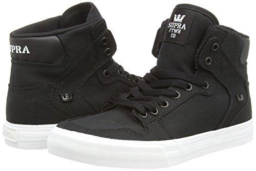 Supra VAIDER D Unisex-Erwachsene Hohe Sneakers Schwarz (BLACK - WHITE BLK)
