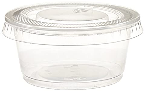Polar Ice Disposable Plastic Glasses with Lids, 2-Ounce, Translucent,