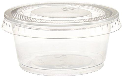 Polar Ice Einweg-Gläser aus Kunststoff, mit Deckel, 60 ml, durchscheinend, 500 Stück Dixie-sauce