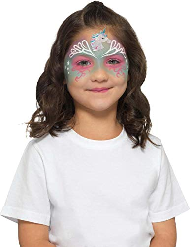 Smiffys Make-Up FX, Kids Unicorn Kit, Aqua Halloween (Halloween Fx Make-up-ideen)