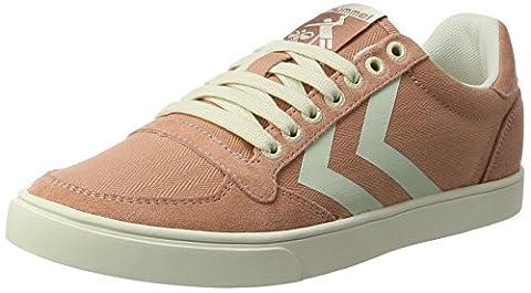 hummel Damen SL Stadil Herringbone Low Sneakers, Pink (Rose Dawn), 39 EU