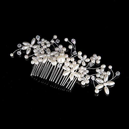 RATWIFE Robe de mariée Coiffure Cheveux Perle Peigne Mariage Bijoux de mariée Accessoires Mariage Accessoires Pearl