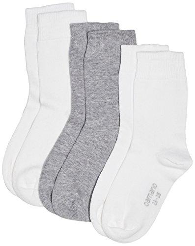 Camano Mädchen Socken 3701, 3er-Pack, Gr. 31-34, Weiß (white 1) (Mädchen Socken Weiße)
