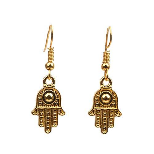 E-H für Schönheit Ohrringe Paar Halloween Schmuck Geschenk Skeleton Hand Spinne Anhänger Baumeln Haken Ohrringe Spinne * (Farbe: Palm), Palme